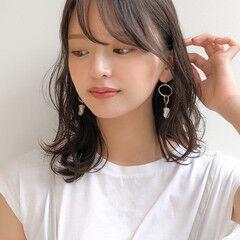 オフィス フェミニン パーティー デート ヘアスタイルや髪型の写真・画像