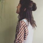 フェミニン まとめ髪 簡単ヘアアレンジ パーマ