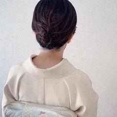 ボブ 着物 ミニボブ 和装ヘア ヘアスタイルや髪型の写真・画像