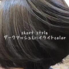 ショートボブ モテボブ ショート 外国人風カラー ヘアスタイルや髪型の写真・画像