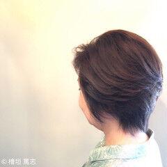 パーマ 50代 エレガンス 40代 ヘアスタイルや髪型の写真・画像