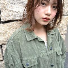 外ハネ シースルーバング ナチュラル 濡れ髪スタイル ヘアスタイルや髪型の写真・画像