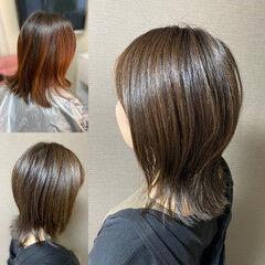 ロング ウルフパーマ ウルフパーマヘア ウルフカット ヘアスタイルや髪型の写真・画像