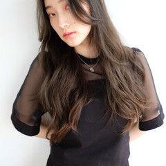 ナチュラル ロング タンバルモリ 韓国ヘア ヘアスタイルや髪型の写真・画像