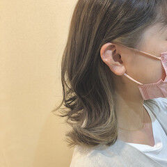 アッシュベージュ ベージュ シアーベージュ コンサバ ヘアスタイルや髪型の写真・画像