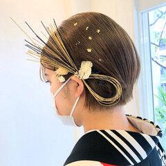 ナチュラル ショートヘア 大人可愛い ミニボブ ヘアスタイルや髪型の写真・画像