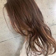 ハイライト 秋ブラウン ヘアカラー 大人ハイライト ヘアスタイルや髪型の写真・画像