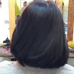 小顔ヘア しっとり ボブ ナチュラル ヘアスタイルや髪型の写真・画像