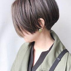ショート モード インナーカラー ハンサムショート ヘアスタイルや髪型の写真・画像