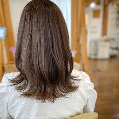 ヌーディベージュ ベージュ シアーベージュ フェミニン ヘアスタイルや髪型の写真・画像