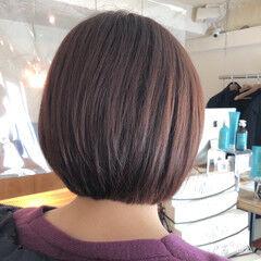 ミニボブ ナチュラル グラボブ 大人グラボブ ヘアスタイルや髪型の写真・画像