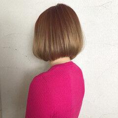 ガーリー 前下がり ピンク デート ヘアスタイルや髪型の写真・画像