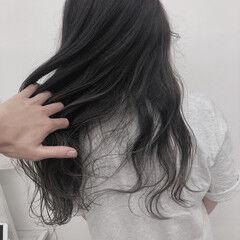 透明感カラー セミロング アッシュ ナチュラル ヘアスタイルや髪型の写真・画像