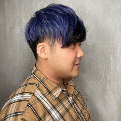 アッシュ ブルーアッシュ ハイトーンカラー 派手髪 ヘアスタイルや髪型の写真・画像