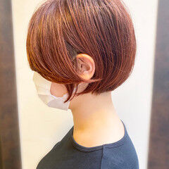 ショートヘア ボブ 簡単スタイリング ナチュラル ヘアスタイルや髪型の写真・画像