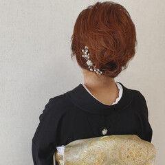 アップスタイル 着物 結婚式 ヘアアレンジ ヘアスタイルや髪型の写真・画像