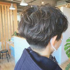 ショートヘア 外国人風パーマ ミニボブ ショートマッシュ ヘアスタイルや髪型の写真・画像