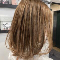 ヘッドスパ ミディアム ミディアムレイヤー ハイライト ヘアスタイルや髪型の写真・画像