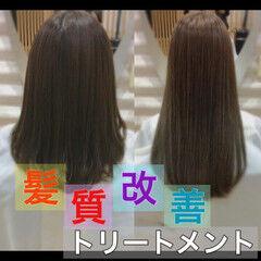 髪質改善 ナチュラル 髪質改善カラー うる艶カラー ヘアスタイルや髪型の写真・画像