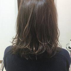 ミディアム 透明感 外国人風 秋 ヘアスタイルや髪型の写真・画像