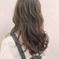 360度どこからみても綺麗なロングヘア セミロング 巻き髪 フェミニン ヘアスタイルや髪型の写真・画像
