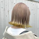 フェミニン 裾カラー 艶カラー ミニボブ
