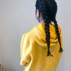 ヘアセット ヘアアレンジ 編み込み ストリート ヘアスタイルや髪型の写真・画像
