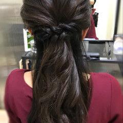 女子会 ナチュラル ヘアアレンジ ロング ヘアスタイルや髪型の写真・画像