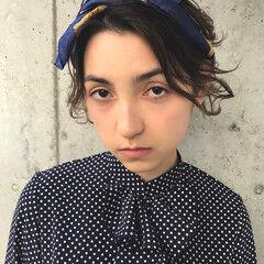 透明感 ヘアアクセ モード 夏 ヘアスタイルや髪型の写真・画像
