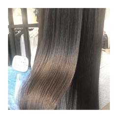 ロング 大人女子 ツヤツヤ ナチュラル ヘアスタイルや髪型の写真・画像