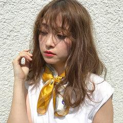 大人かわいい 涼しげ ゆるふわ シナモンベージュ ヘアスタイルや髪型の写真・画像