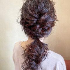 ポニーテール ロング ヘアアレンジ フェミニン ヘアスタイルや髪型の写真・画像