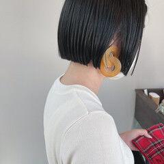 ストレート ミニボブ ボブ 黒髪 ヘアスタイルや髪型の写真・画像