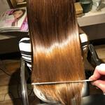 縮毛矯正 ナチュラル 美髪 髪質改善カラー