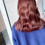 艶髪 ミディアム ハイトーン 艶カラー