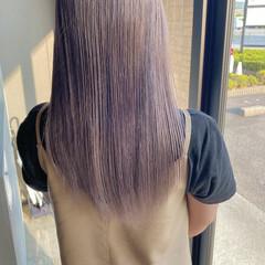 ダブルカラー ピンクベージュ ミルクティーベージュ ラベンダーグレージュ ヘアスタイルや髪型の写真・画像