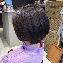 ショート oggiotto 透明感カラー ラベージュ ヘアスタイルや髪型の写真・画像