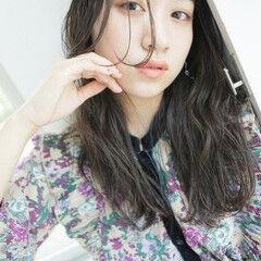 エレガント 韓国風ヘアー インナーカラー 韓国ヘア ヘアスタイルや髪型の写真・画像