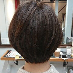 美髪 サイエンスアクア ショート ショートボブ ヘアスタイルや髪型の写真・画像
