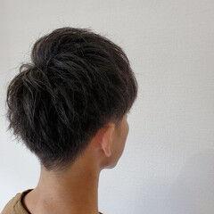メンズヘア くせ毛 ナチュラル メンズショート ヘアスタイルや髪型の写真・画像