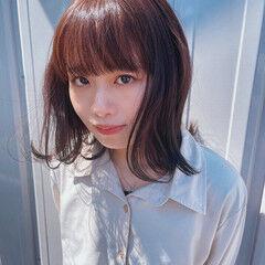 バイオレットアッシュ ミディアム バイオレット ブルーバイオレット ヘアスタイルや髪型の写真・画像