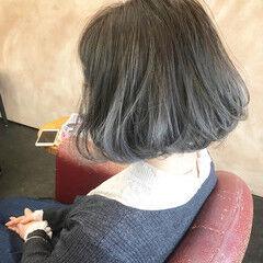 透明感 ボブ 圧倒的透明感 透明感カラー ヘアスタイルや髪型の写真・画像