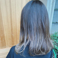 ハイライト ミディアム シナモンベージュ 大人ハイライト ヘアスタイルや髪型の写真・画像