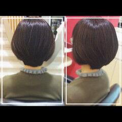 ナチュラル 艶髪 社会人の味方 髪質改善カラー ヘアスタイルや髪型の写真・画像
