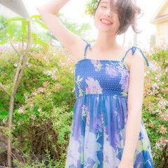 花 ストリート ヘアアレンジ アップスタイル ヘアスタイルや髪型の写真・画像