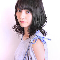 ミディアム デート ナチュラル モテ髪 ヘアスタイルや髪型の写真・画像