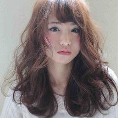 モテ髪 ゆるふわ ナチュラル セミロング ヘアスタイルや髪型の写真・画像