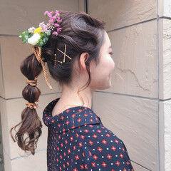 成人式ヘア たまねぎアレンジ ロング ヘアアレンジ ヘアスタイルや髪型の写真・画像