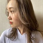 韓国風ヘアー ベージュカラー 韓国 ミディアム