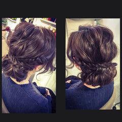 フィッシュボーン 波ウェーブ ヘアアレンジ ロング ヘアスタイルや髪型の写真・画像